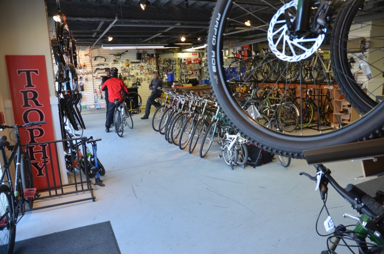 shop view, Trophy Bikes North